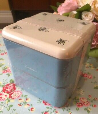 Cath Kidston Bumble Bee Set Of 2 X Snack Lunch Box Brand New & Still Sealed.