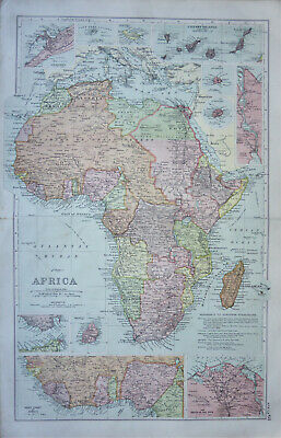 A stunning map of Africa by George W. Bacon c1904