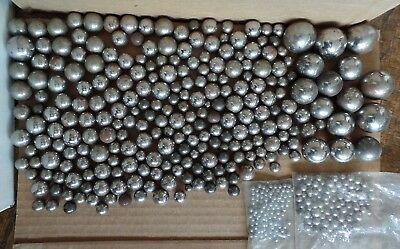 Lot 9 Pounds Vintage Industrial Ball Bearings Marbles Antique Steel Shot 1930s