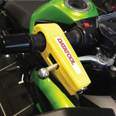 Datatool Croc Lock Yellow Motorcycle Bike Brake Lever Security Lock Husqvarna