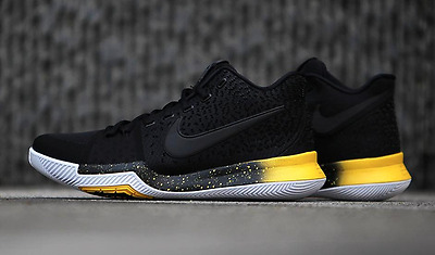 f51f8a065363 AUTHENTIC NIKE Kyrie 3 Black Yellow White 852395 901 Basketball Shoes Men  size