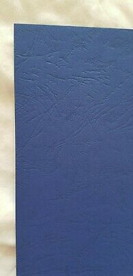 A4 Leathergrain covers, pack 100 - Royal Blue