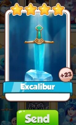 Coin Master game ***EXCALIBUR** card. Get card immediately.