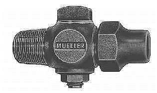 "Mueller Brass 3/4"" MIP x 1"" Flare Saddle Style Curb Stop Valve 300 FAST SHIP F39"