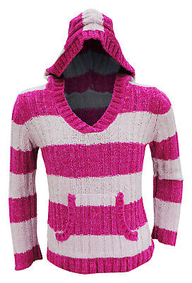 Girls Ex George Hooded Jumper Multi Stripes Hoodie Age 4 to 6 Years Kids Hoody