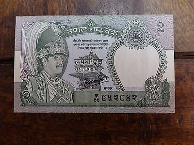 Nepal 2 Rupees 1981 UNC Uncirculated Banknote