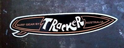 """TRACKER SURF GEAR"" SURFBOARD DECAL / STICKER 1970's RETRO SURFING SURF"