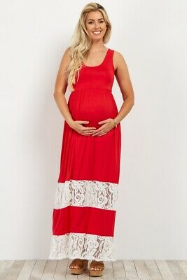 71b04730d0c0f NWT PINK BLUSH Maternity red lace maxi dress small Sold out - $70.00 ...