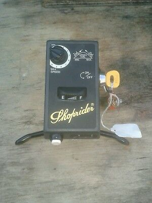 Shoprider Sovereign Deluxe TE88NR  wig wag ignition key gauge speed control