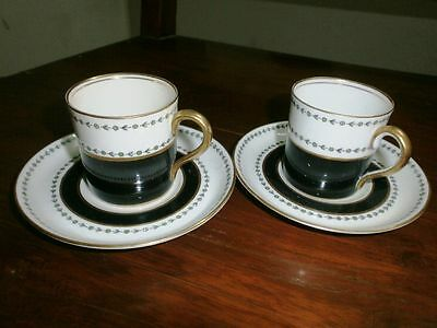 Antique Cup And Saucer Aynsley England Very Rare Vintage 2 Pair English Ceramic