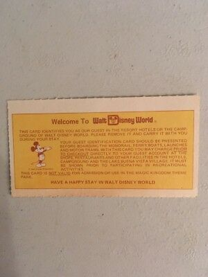 Rare Vintage Walt Disney World Mickey Mouse Pass Ticket To The Park