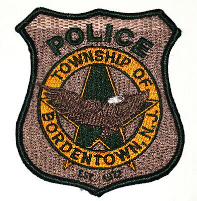 BORDENTOWN TOWNSHIP TWP NEW JERSEY NJ Sheriff Police Patch FLYING EAGLE ~