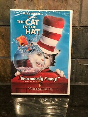 CAT IN THE HAT (DVD, 2004,Live Action Widescreen Edition) NEW