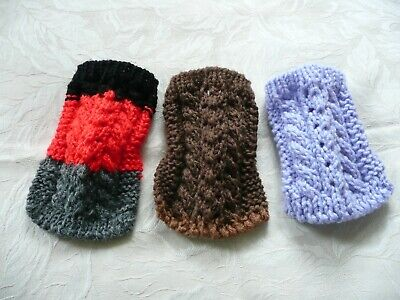 3PC Wholesale  XXS handmade knit dog sweaters