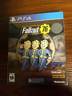 Fallout 76, PS4 (Wallmart Special Edition, Controller Skin/Steelbook Included)
