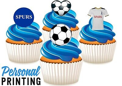Tottenham Hotspurs Football Mix Edible Stand Up Wafer Cake Toppers Spurs Footie