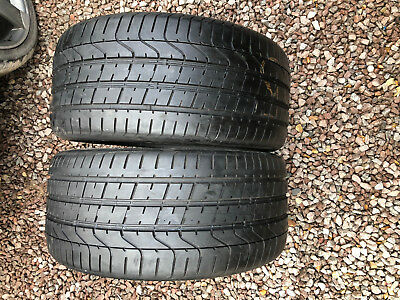 Part Worn Tyre 2x 265/35/18, Summer, Pirelli P Zero MO 97Y