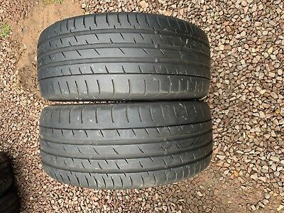 Part Worn Tyre 2x 245/45/18, Continental ContiSportContact 3 SSR RunFlst 96Y 2