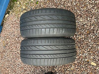 Part Worn Tyres 2x 225/40/18 Summer  Bridgestone Potenza RE050A 88W