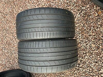 Part Worn Tyre 2x 255/35/18, Summer Continental ContiSportContact 5 94Y EL