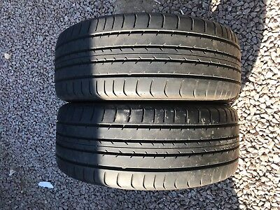 Part Worn Tyre 2x 225/45/18Dunlop Sp Sport 91W sr