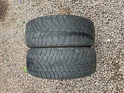 Part Worn Tyre 2x 225/50/17 Winter Dunlop Sp Winter Sport M3 RunFlat M+S 94H