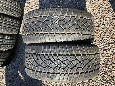 Part Worn Tyre 2x 255/40/18, Winter, Dunlop Sp Winter Sport 3D 95V EL M+S MFS