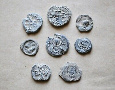 Lot Of 8 (Eight) Roman And Byzantine Lead Seals To Be Catalogued. A Nice Lot!