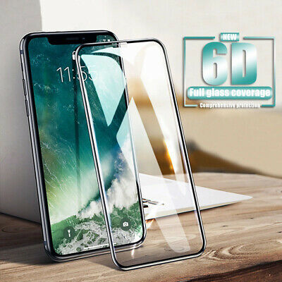 6D Schutzglas Panzerfolie Full Screen Display 9H Hartglas  iPhone Samsung Huawei