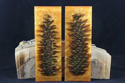 Gold Custom Composite Pinecone Knife Handle Material Blank Scale (299)