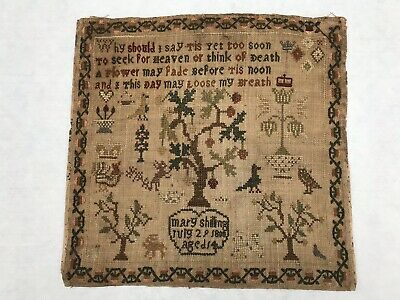 Antique Georgian Unframed Sampler. Dated July 29Th 1800.