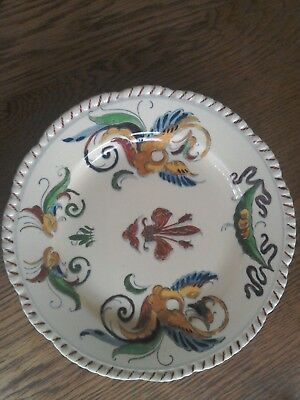 Antique Stunning Adams Royal Ivory Titian Ware Extremely Rare Plate 1905. Adams