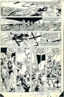 George Perez Original Art Avengers 202 Page 3 Pencil And India Ink