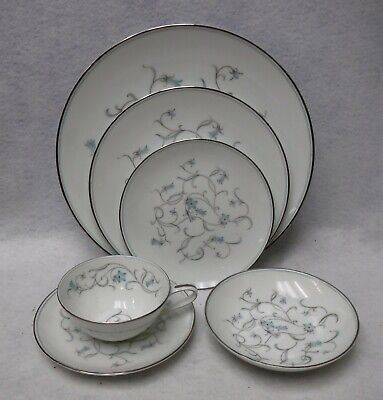 NORITAKE china ALICIA 5762 pttn 6-piece Place Setting - dinner salad bread fruit