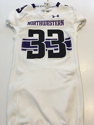 199863397 GAME WORN NORTHWESTERN Wildcats Football Jersey Used Under Armour ...