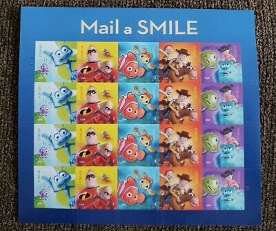 2011Pixar Films - Mail a Smile Pane of 20 Forever Stamps MNH