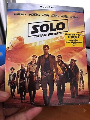 Solo - A Star Wars Story (Blu-Ray, 2018) w/SLIP COVER