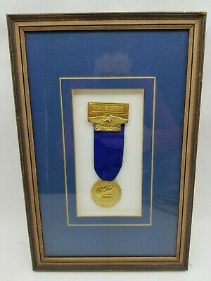 "12"" x 8"" FRAMED 1988 Republican National Convention Delegate Medal New Orleans"