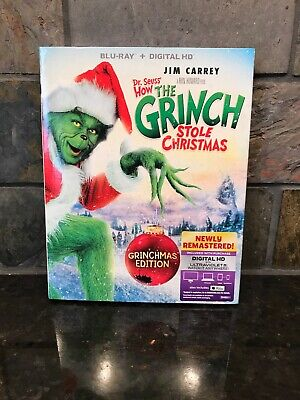 Dr. Seuss' How the Grinch Stole Christmas Blu-ray Disc + Digital HD 2015 NEW