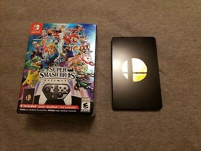Super Smash Bros Ultimate Collector's Steelbook Box ONLY Nintendo Switch NO GAME