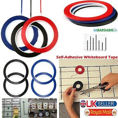 Self-Adhesive Whiteboard Tape 3mm Non-Magnetic Fine Grid Gridding Marking Uk