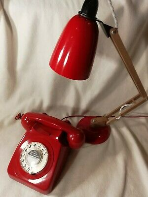 Rotary Dial Phone Vintage Retro 1970s BT Telephone red GPO 8746f 8746 60's