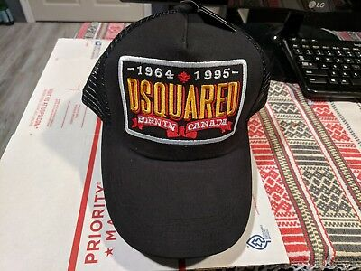 682c099bb DSQUARED DEAN CATEN DSQ Dsquared2 Baseball hat Dsq2 Patch Baseball Cap BLACK