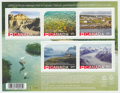 Canada -  #2857 RE-ISSUED UNESCO World Hertiage Sites 2015 -MNH