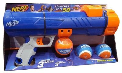 Nerf Dog Tennis Ball Blaster Dog Exercise Toy Shoots Up To 50ft Includes 3 Balls