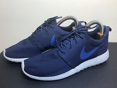 7bfded6574bc Nike Roshe Run Athletic Running Mens Shoes Size 10.5 Eur 44.5 Dark Blue