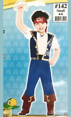 50bcbad78453b Small 4-6 Jake and the Never Land Pirates Disney Costume Toddler Kid 3 piece
