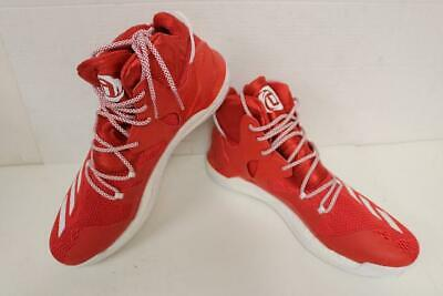check out 08745 03c5f Adidas D Rose 7 BOOST Red White Basketball Men s Shoes, Size 16