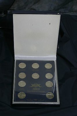 Complete set 2008 P&D state quarters BU in acrylic case and commerative Box
