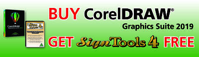 Corel DRAW 2019 Full Box Edition (not upgrade or educational) + FREE SignTools 4